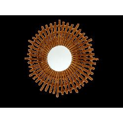 Espejo bambu espiral
